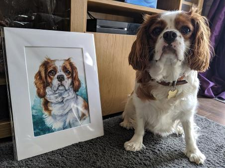 personalised dog portrait gift, personalised pet painting